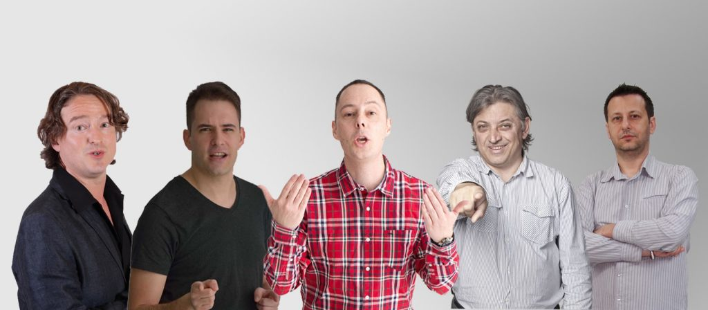 Stand up comedy humoristák - csoportkép